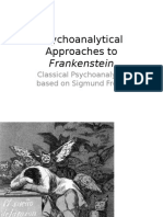 Psychoanalytical Approaches to Frankenstein