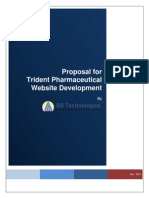 SBTS Proposal for Website Developement to TRIDENT Pharma Ver 1.0