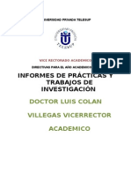 Directivas de Vice Rectorias - Luis Colan Villegas