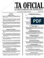 Gaceta oficial Nº 40.599 10-02-2015