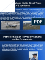 Patrick Rhatigan Holds Great Years of Experience