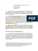 Forecasting and Procurement at Le Club Francais Du Vin Copy