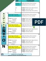 March Fenton Classes