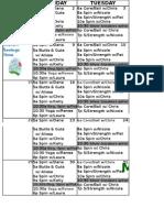 March Oxf 2015 Class Schedule