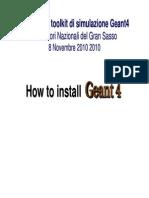 Geant4 Installation