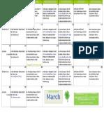 Dav March Class Schedule