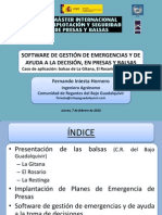 Software Gestión  Emergencias y de Presas y Balsas_fernando_iniesta
