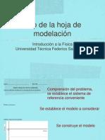 Uso de La Hoja de Modelacion-fisica activa universitaria