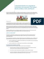 El Impacto de La Obesidad Infantil en La Salud de Los Huesos SOCIEDAD AMERICANA ORTOPEDIA