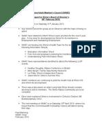SAMC Chair Report to Shine Board Feb 2015
