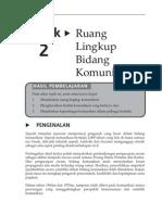 Topik 2 Ruang Lingkup Bidang Komunikasi