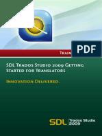 SDL Trados Studio 2009 for Translators - Getting Started