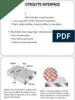 Metal Electrolyte Interface