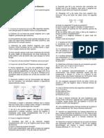 Lista de Exercícios Leis Ponderais e Formulas Químicas