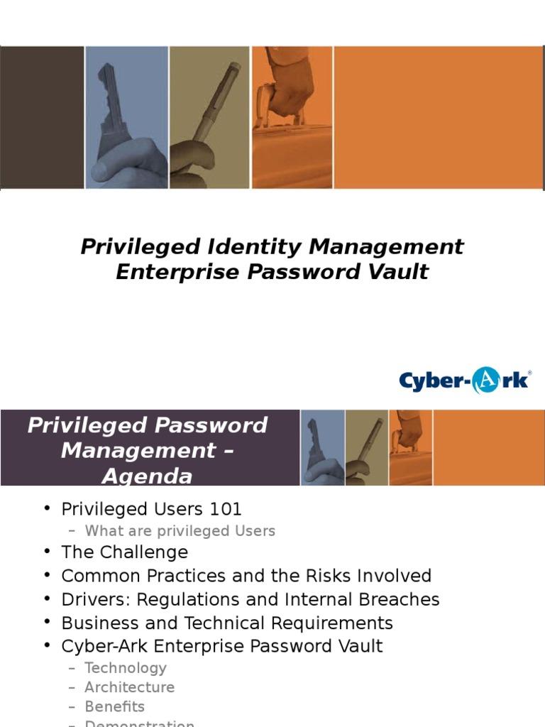 090910 Cyber-Ark Password Vault | Password | User (Computing)