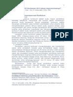 Analisis SWOT Kurikulum 2013 Dalam Implementasinya