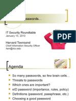 SIRT Roundtable PasswordMgmtJan10