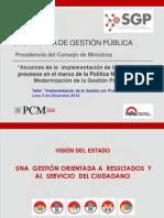 Expo 1 Gestion Por Procesos -Ing Hugo Almeida - PCM-SGP09122014