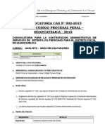 Convocatoria Ministerio Público