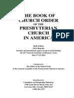 PCA Book of Church Order