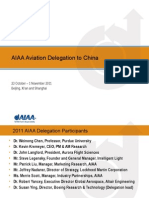 China Aviation Delegation Update