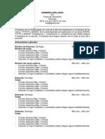 Modelo CV 2014 - Trabajandocom Tarea Estudios Sociales. Profesor Mariano Herrera
