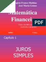 Juros Simples_Matemática Financeira