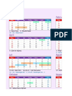 Kalender 2015 Indonesia New