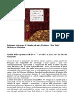 Relazione Su Lavoro Di Gianluca Lerici Prof Bad Trip
