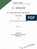 Richet Carlos - El Dolor - El Somnambulismo Provocado (1879)