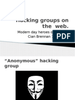 Hacking Groups on the Web