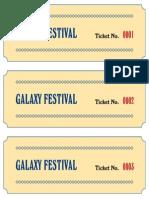 Tickets Galaxy