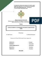 ETUDE TECHNICO- ECONOMIQUE SUR DEUX VARIANTES DE PONT
