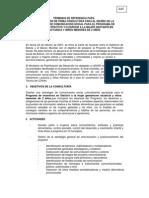 TDR Para Plan de Comunicacion