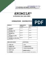 User Guide Ekomilk