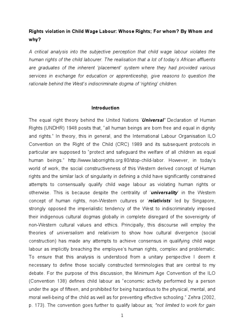 essay on childlabour essay writing about my school child labour  child labour and human rights