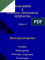 1. Manajemen & Perilaku Organisasi Kesehatan