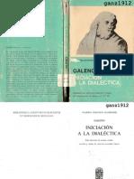 Galeno - Iniciacion a La Dialectica (Bilingue)
