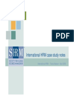 Powerpoint Presentation of International HRM Case Study