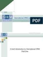 International HRM Presentation