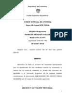 Sentencia Corte Suprema de Justicia de Colombia Con Agravante de Feminicidio