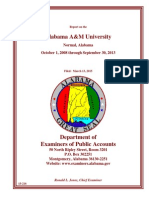 Department of Examiners of Public Accounts report on Alabama A&M
