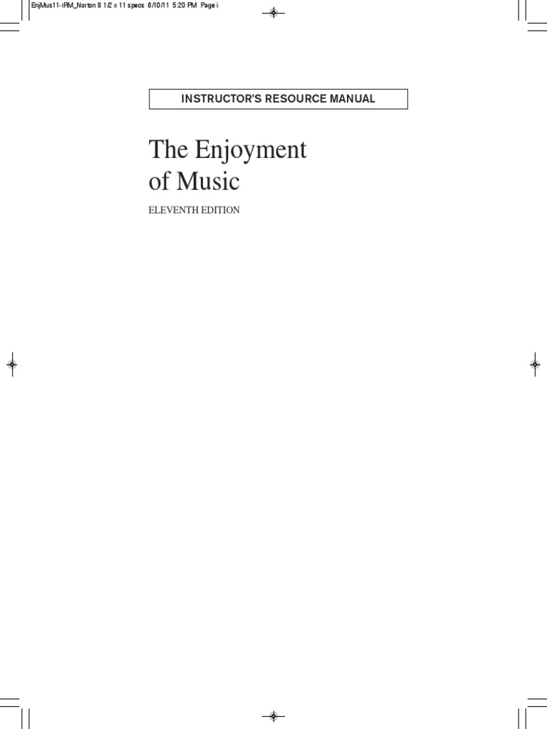 Enjoyment of music instructors manual classical period music enjoyment of music instructors manual classical period music composers fandeluxe Image collections