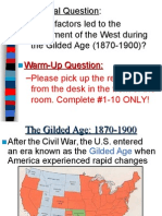 gilded age--the west