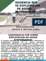 2.9 Subsidencia Por Sobre Explotacion de Aguas Subterraneas