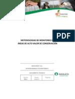 Metodologías de Monitoreo de Áreas de Alto Valor de Conservación