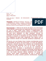 Agravo Instrumento Indeferimento Justica Gratuita Assistencia Judiciaria Modelo 287 BC277
