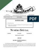 Le Decret Electoral de 2015, Numero Special