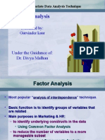 Factor Analysis Gurvinder