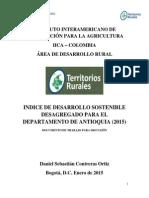 INDICE DE DESARROLLO SOSTENIBLE ANTIOQUIA (2015)